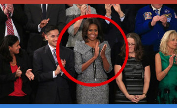 Michelle wears a $2,600 outfit at SOTU while Obama is talking about the poor
