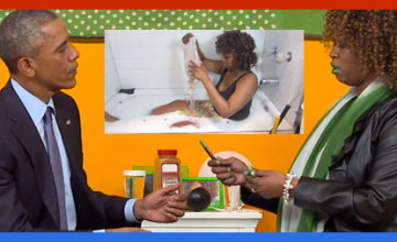 Obama refuses to meet with Israeli Prime Minister but meets with a woman who eats cereals from a bathtub
