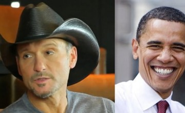 VIDEO: Tim McGraw's Fans Are Outraged, Tim Bowed To Obama's AntiGun policy in a Big Way