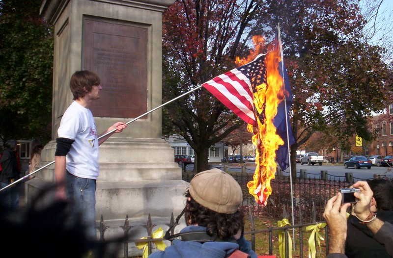 an introduction to burning an american flag Blaw chapter 5 study play the supreme court has ruled that laws making it illegal to burn an american flag: are void because they violate a person's right to freedom of speech a woman wishes to attend an all-male, publicly supported college.