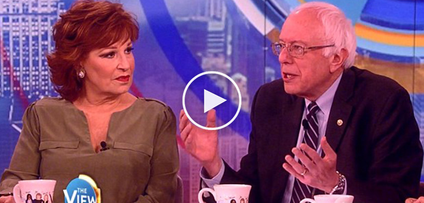 Bernie Sanders Goes On 'The View' With Pro Black Lives Matter, Anti-Cop Rhetoric...Audience Cheers...