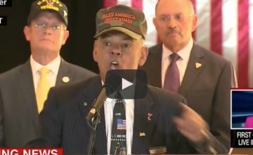 VIDEO: Retired Marine BLASTS 'Liberal Media' At Trump Rally!