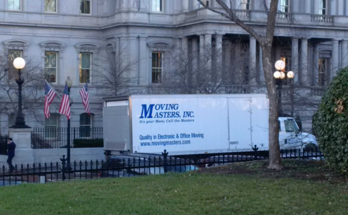Obama is almost gone. The moving truck has arrived
