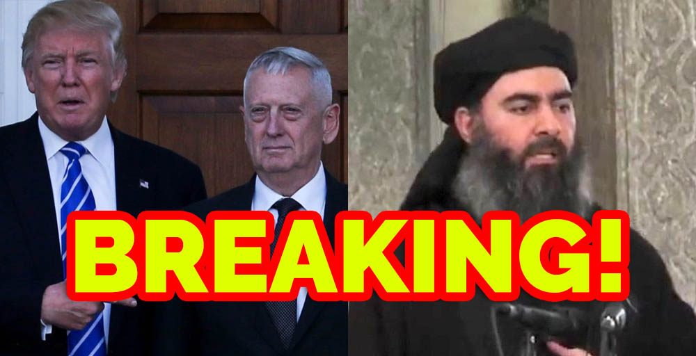 BREAKING: Trump & Mattis Take Out ISIS Leader… DAY 1 on The Job!