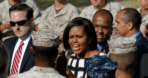 Michelle Obama Disrespects a US Marine, Gets BRUTAL Response