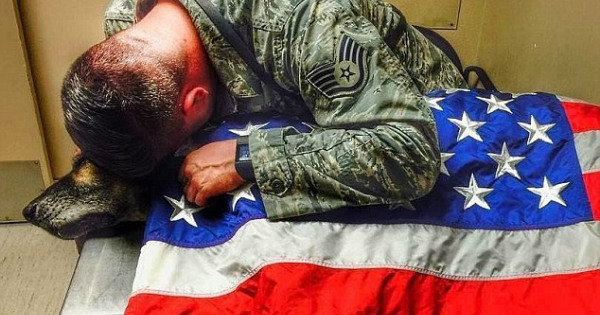 The Heartbreaking Moment When a US Air Force Sgt. Said Goodbye to His K9 Partner
