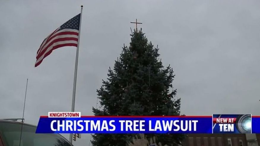 Christmas tree cross brings ACLU lawsuit