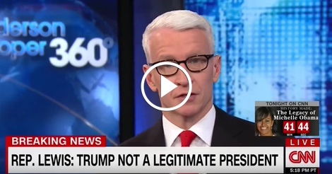 Anderson Cooper does the unthinkable while talking Trump
