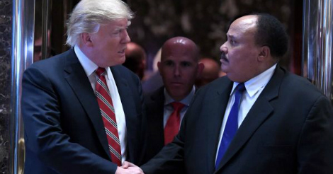 Reporters literally begged Martin Luther King III to denounce Trump