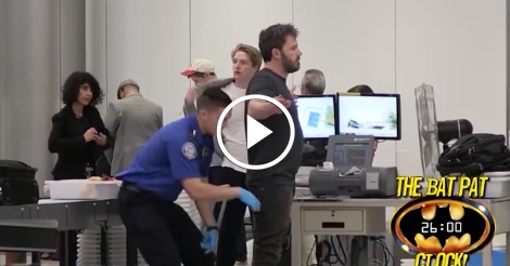 Ben Affleck annoyed during TSA pat-down