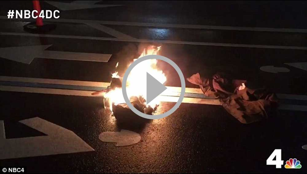VIDEO: Anti-Trump Protester sets himself on fire outside ...