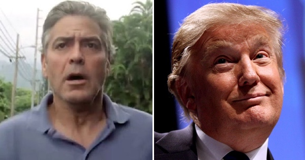 George Clooney gets a nasty surprise after trashing Trump