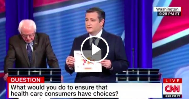 Ted Cruz Whips Out SURPRISE Obamacare Map, HUMILIATES Bernie Sanders on LIVE TV