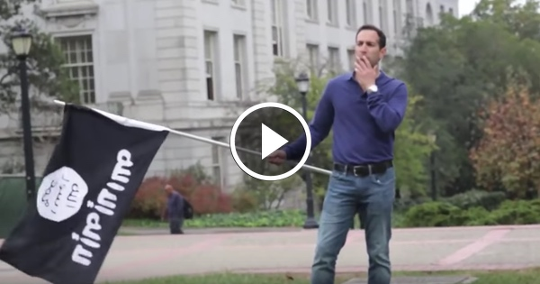 Berkeley Students Cheer Man Waving ISIS Flag, Then ATTACK Him for Waving Israeli Flag