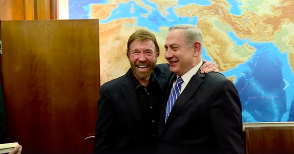 Israel's Netanyahu Meets With Chuck Norris, Dismisses 'Obsolete' Security Detail