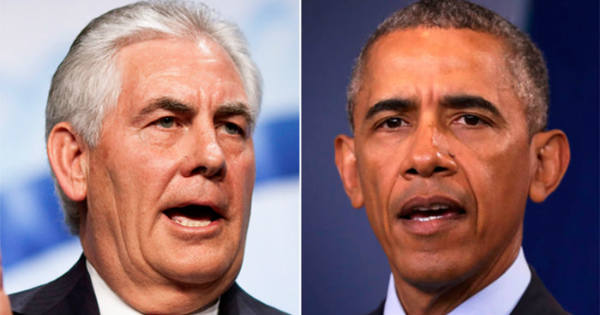 Obama is PISSED! Rex Tillerson Just DESTROYED Something Dear to Him