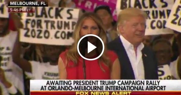 First Lady Melania is BREAKING THE INTERNET With What She Did at Trump's Florida Rally