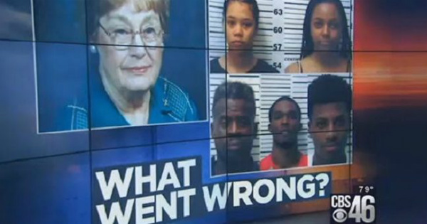 Black Gang Beats, Burns Alive an Elderly White Woman... No Calls of Racism...