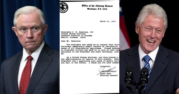 Well, Well - Look What Bill Clinton Wrote to Jeff Sessions in 1993
