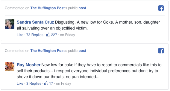 Outrage over Coke's new ad