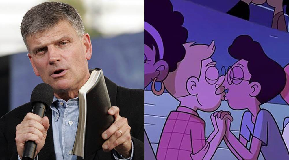 Rev. Graham Sends Brutal Message To Disney for Airing its First Gay Kissing Children's Cartoon