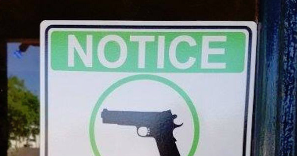 Restaurant's Gun Sign Has Local Liberals FREAKING OUT