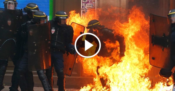 Muslim Mobs RAMPAGE Through Paris... WATCH How Local Police Respond