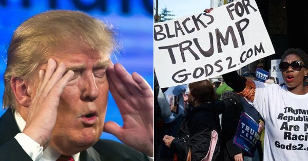 Trump spots 'Blacks for Trump' sign... WATCH CLOSELY how he reacts...