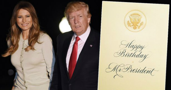 what melania left on trump u0026 39 s birthday card has liberals in